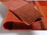 Nepal zuiver scheerwol vloerkleed Silky Plus 474 Kastanje_