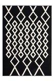 Wit zwart modern vloerkleed Ariadne _