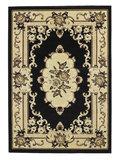 zwart klaasiek tapijt