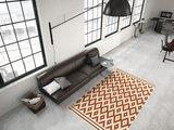 Designer vloerkleed Stellos Ecru Oranje_