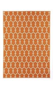 Vloerkleed voor buiten Paros oranje