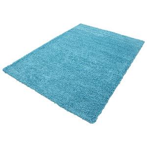 Turquoise blauwe vloerkleden Adriana Shaggy  1500/AY Turquoise