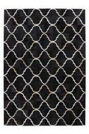 zwart leder vloerkleed