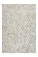 Lederen-vloerkleed-Denise-Grijs-met-metaalfolie